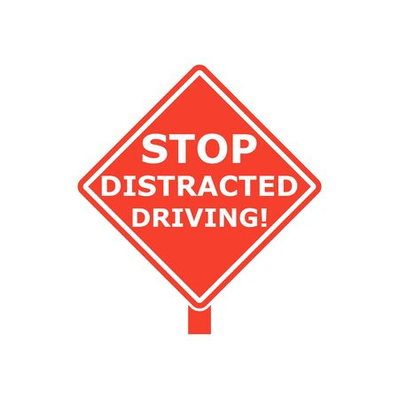 Stop Distracted Driving Sign