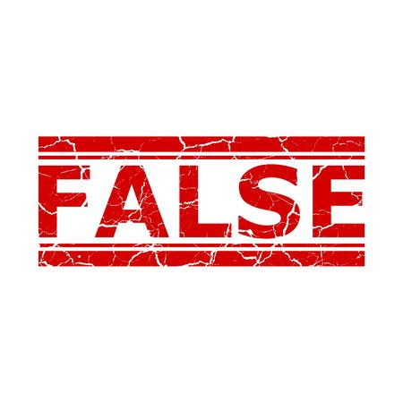 Red false stamp on white background