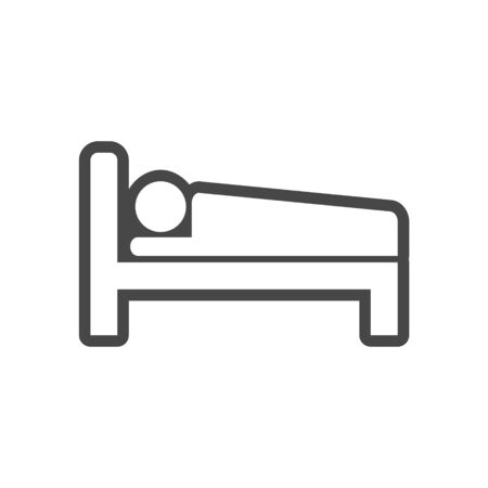 Hospital bed icon, bed icon symbol sleep night hotel motel