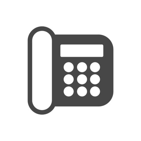 Telephone Icon, Phone icon in flat style