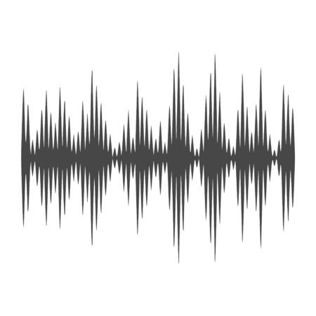 Audio wave icon, Modern Sound Wave illustration