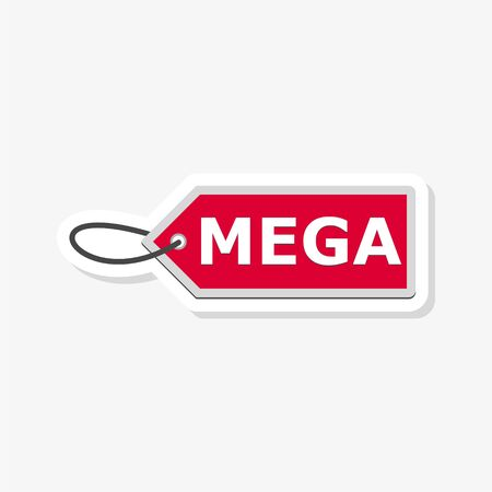 Mega price Tags sticker, simple illustration Vettoriali