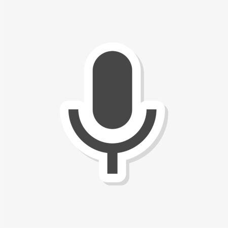 Microphone sticker