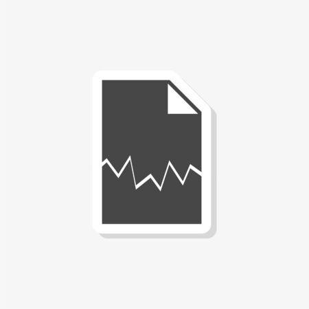 Torn document sticker