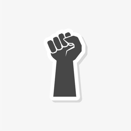 Protest sticker, Power sign, Protest icon