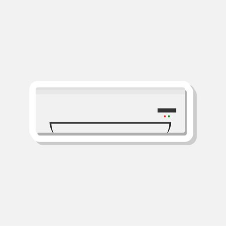 Modern air conditioner sticker, Modern air conditioner sign Illustration