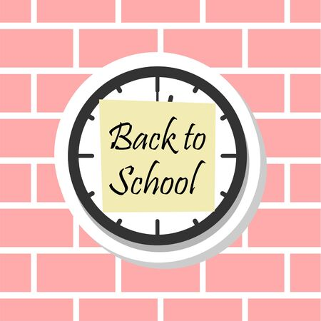 Back to School, Clock sticker