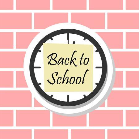Back to School, Clock sticker