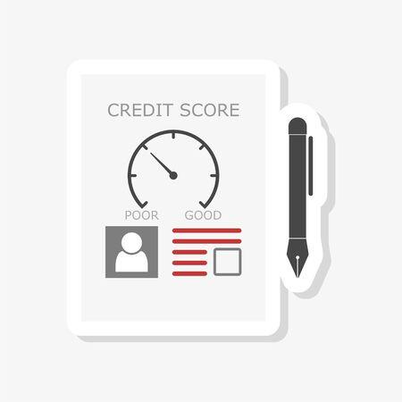 Credit Score concept sticker