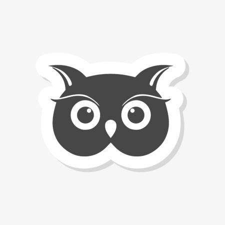 Owl Logo Template, Owl sticker Logo