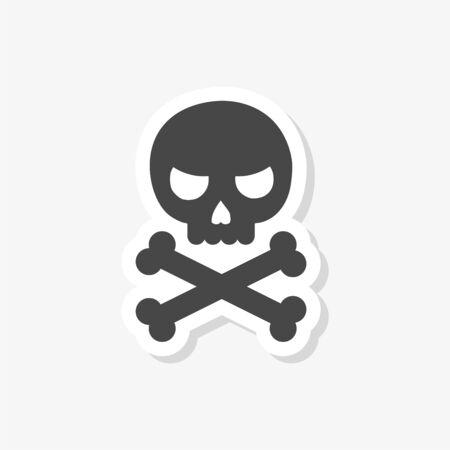 Sea pirate emblem, Pirate sticker
