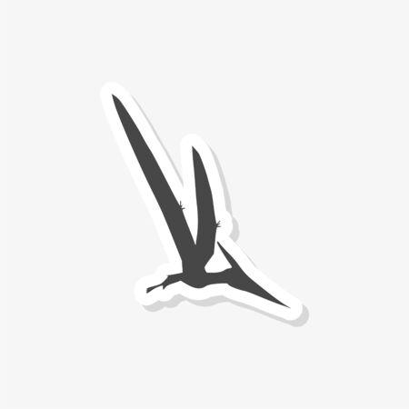 Pterodactyl sticker, Vector drawing, Pteranodon bird