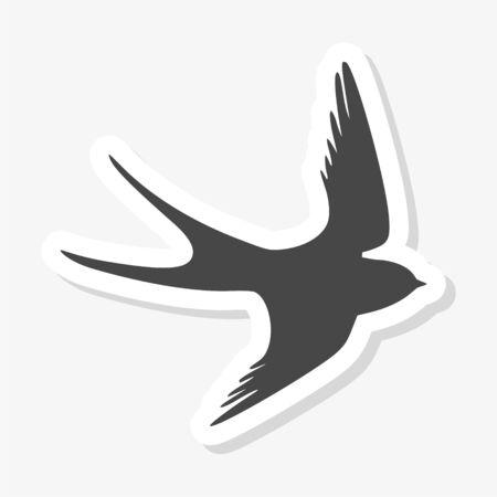 Swallow sticker, Swallow logo Logo