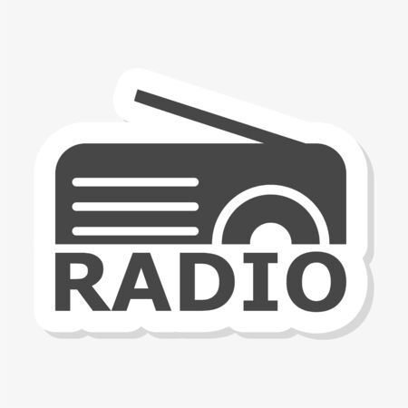 Radio logo, Radio sticker