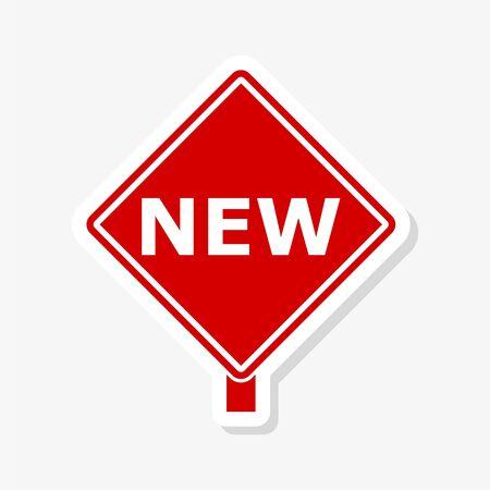 New product corner ribbon banner label sticker Ilustração Vetorial