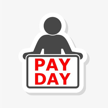PAYDAY Announcement, Flat sticker Illustration