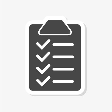 Checklist Icon Design sticker Ilustrace