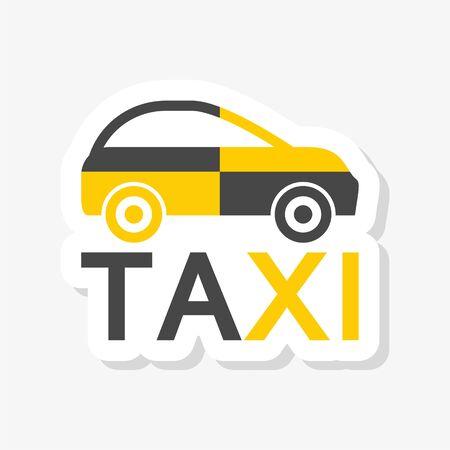 Taxi logo, Taxi sticker Illusztráció
