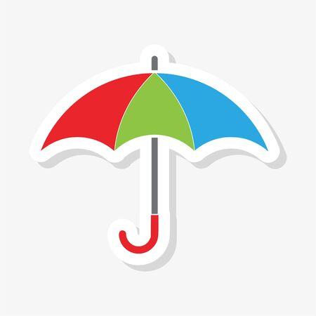 Color Umbrella sticker