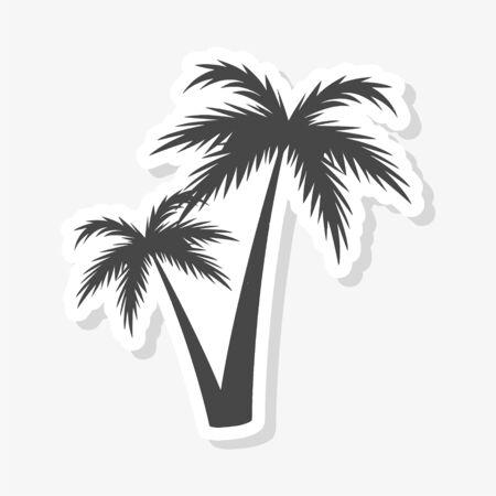 Silhouette palm tree, Palm tree sticker 向量圖像