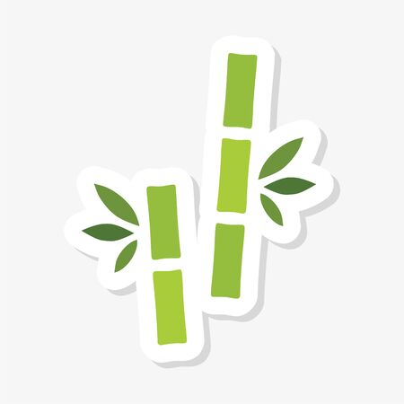 Tropical leaves bamboo tree sticker