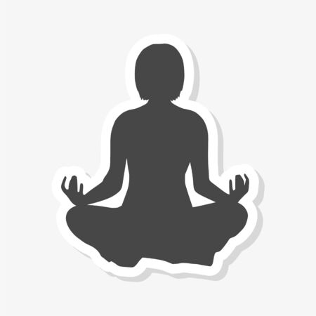 Meditation silhouette sticker