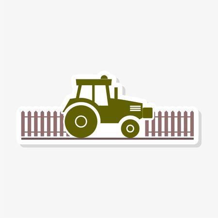 Tractor logo sticker