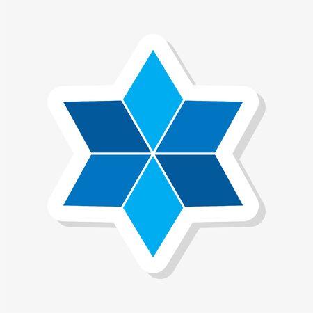 Star Logo concept sticker 向量圖像