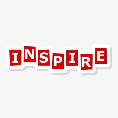 Inspire lettering sticker 向量圖像