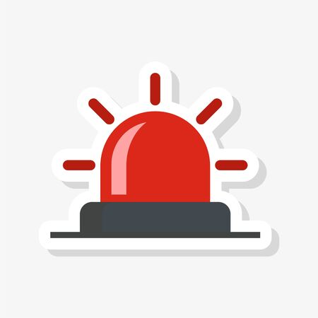 Flasher sticker, Siren icon, Alarm siren Illustration