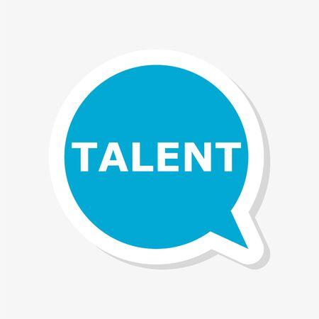 Talent sticker illustration