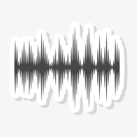 Audio wave sticker, Modern Sound Wave illustration Stock Illustratie