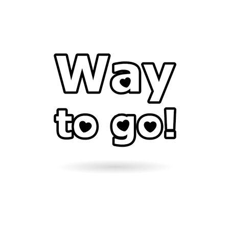 Black Way to go icon illustration  イラスト・ベクター素材