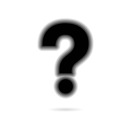 Black Question icon on white background
