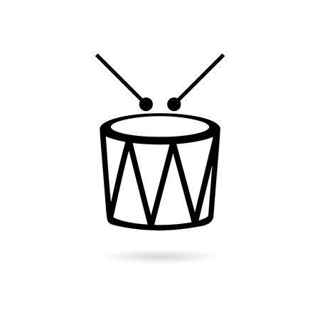 Black Drum icon or Snare graphic