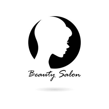 Black Logo design template for beauty salon icon 向量圖像