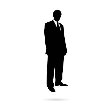 Black Businessman silhouette icon