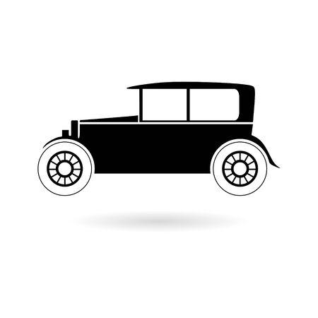 Black Old motor vehicle icon
