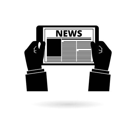 Black Tablet News icon or logo