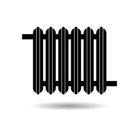 Black Heating radiator icon or logo
