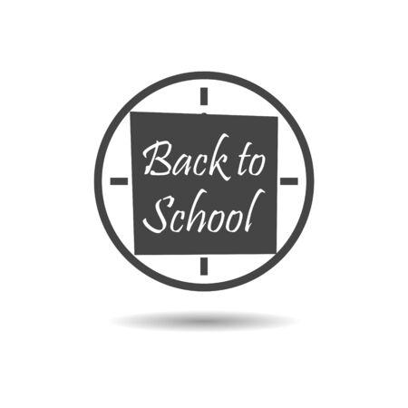 Black Back to School, Clock icon or logo