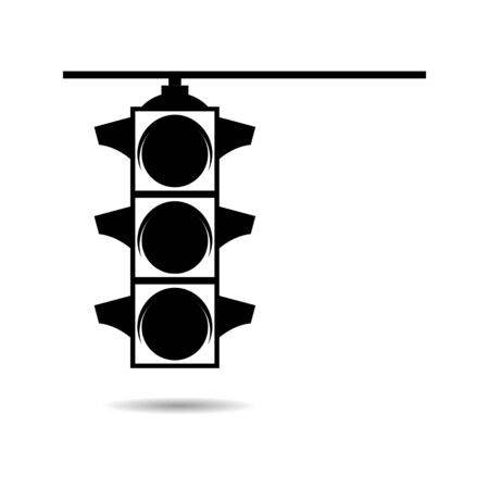 Black Traffic Lights icon or logo