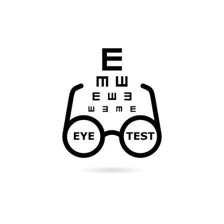 Black Eye test chart icon icon