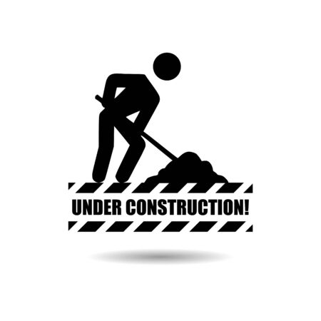 Black Under construction icon or logo