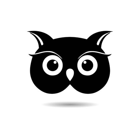 Black Owl Template, Owl icon