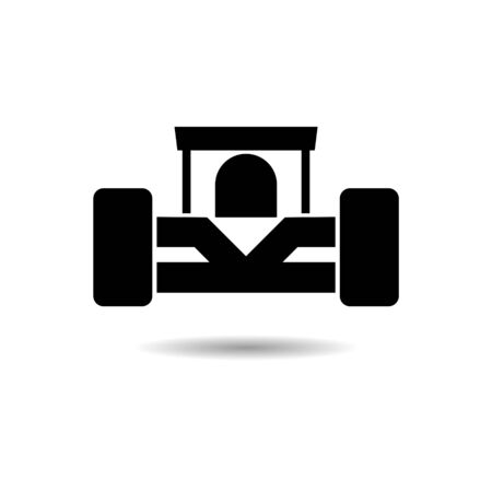 Black racing car icon