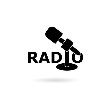 Black Radio logo, Radio icon