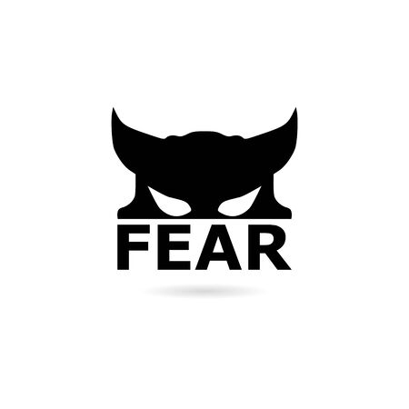 Black Fear icon, Fear icon or logo Illustration