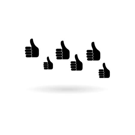 Black Male hands show thumbs up icon