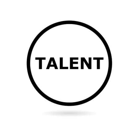 Black Talent icon or logo